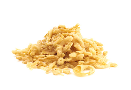 Crispy Fried Onions on a White Background