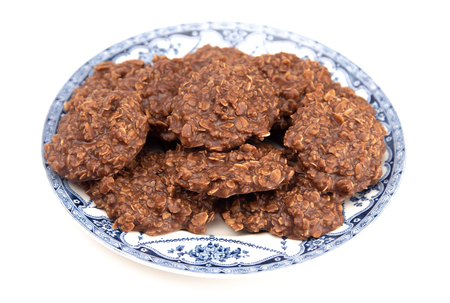 No Bake Chocolate Peanut Butter and Oat Cookies