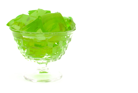 Crystal Bowl Full of Lime Jelly