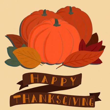 Happy Thanksgiving Banner with a Pumpkin Patch Graphic