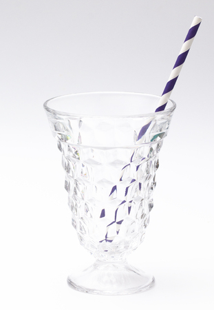 Stripped Paper Straws on a White Background Reklamní fotografie