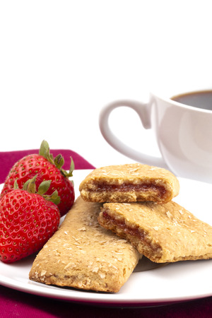 Whole Grain Breakfast Bar on a White Background