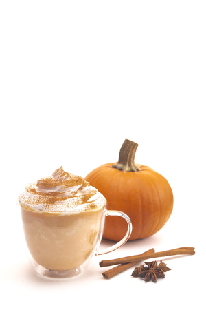 A Pumpkin Spice Latte on a White Background
