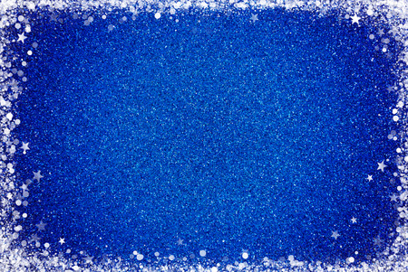 A Blue Glitter Background with a White Border