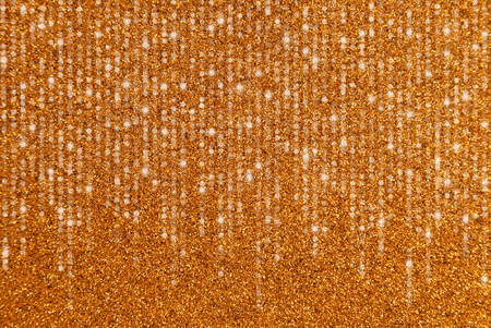A Gold Glitter Border with Cascading Lights