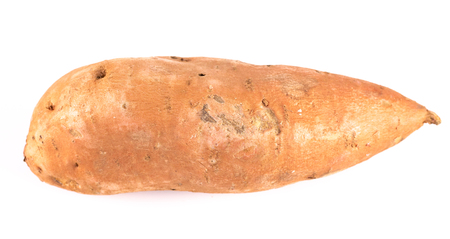 Simple Sweet Potatoes on a White Background
