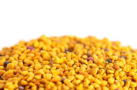 A Pile of Pellets of Yellow Bee Pollen Imagens