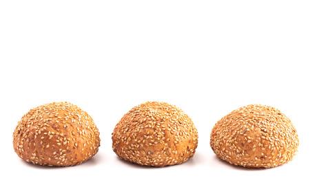 Sesame Seed Rolls Isolated on a White Background Reklamní fotografie