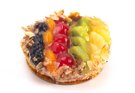 Multifruit French Pastry Isolated on a White Background 版權商用圖片