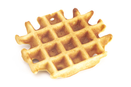 Classic Belgian Waffles Isolated on a White Background
