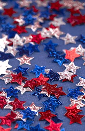 American Themed Background with Red White and Blue Stars