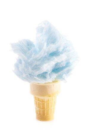 Cotton Candy in an Ice Cream Cone