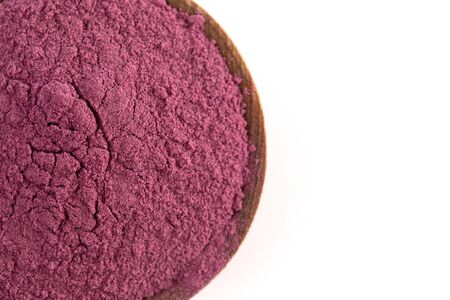 Bright Colored Acai Berry Powder Perfect for Adding to Recipes like Smoothies 版權商用圖片