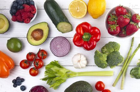 A Background of Healthy Food Perfect for a Low Carb Diet Like Keto