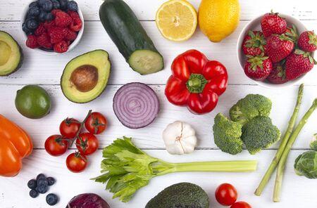 Un trasfondo de comida saludable perfecta para una dieta baja en carbohidratos como la cetogénica