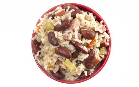 Red Beans and Rice with Sausage and Vegetables 版權商用圖片