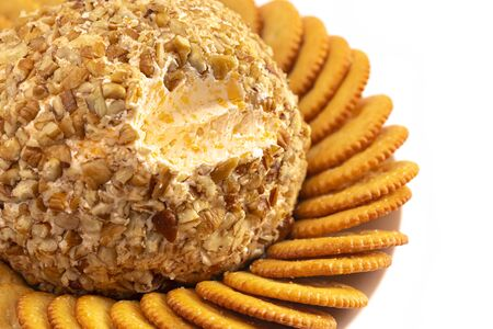A Cheeseball Perfect for Holiday Paries Stok Fotoğraf