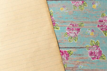 A Piece of Antique Paper on a Rustic Wood Background Perfect for Slides or Presentations