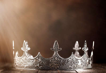 A Silver Metal King or Queens Crown in the Sunlight