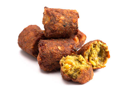 Falafel Isolated on a White Background
