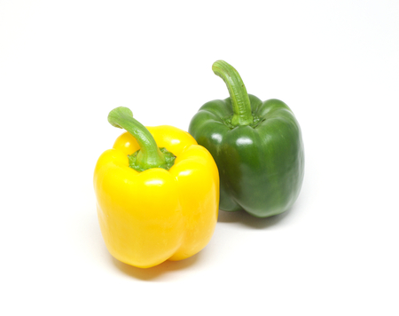 ingrediant: Yellow and green bell peppers Stock Photo