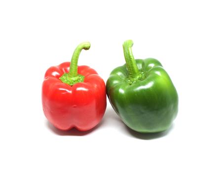 pimientos: Rojo y verde pimientos Foto de archivo