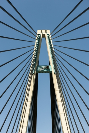 The pylon of a beautiful cable-stayed bridge Stock Photo - 13677294