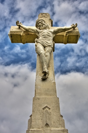 memorial cross: Crucifijo Foto de archivo