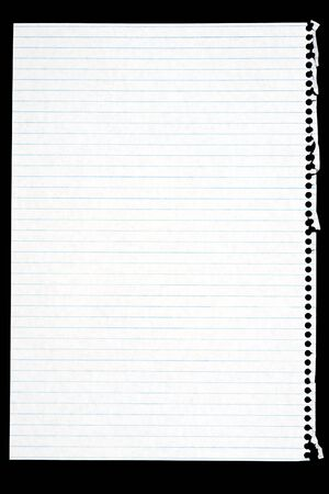 Notepad page isolated on black Stock Photo - 9162084