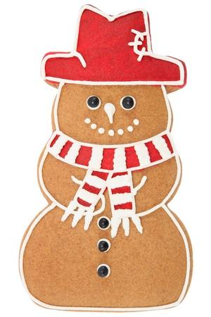 ginger cookies: Muñeco de nieve de pan de jengibre