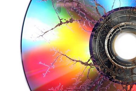 Damaged CD/DVD Standard-Bild