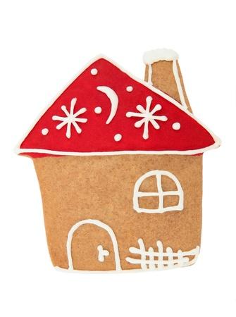 casita de dulces: Casa de pan de jengibre Foto de archivo