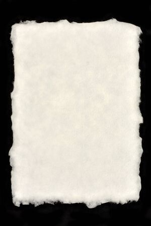 fray: Deckle Edged Paper Stock Photo