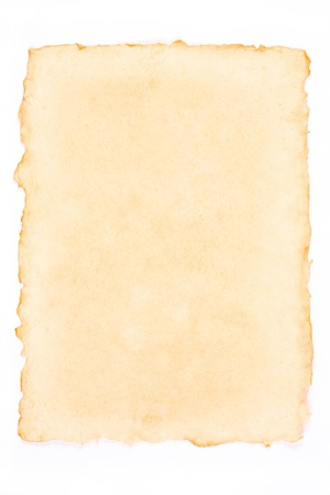 Old torn paper isolated on a white background