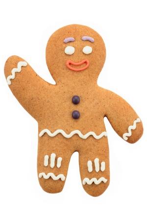 galletas de navidad: Hombre de pan de jengibre Foto de archivo