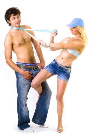 Playful Sexy pair - flirting photo
