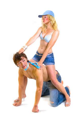 Playing Sexy pair - riding Stock Photo - 1318479