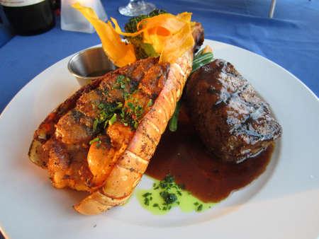 lobster dinner: Gourmet Carribean Faire Stock Photo