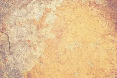 decrepit: Old ragged wallpaper wall texture with vintage ripples. Background, use for scrapbooking, print.