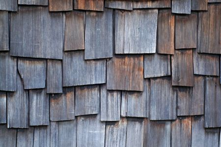 staggered: Old Wood Shingles