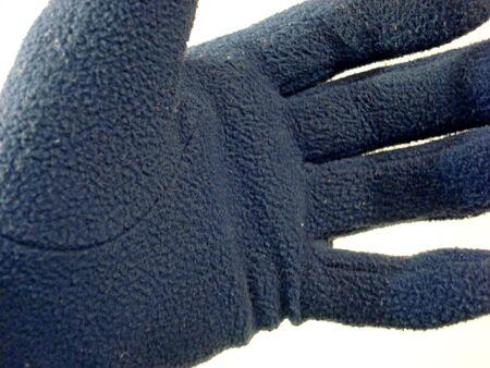 블루 낀 손