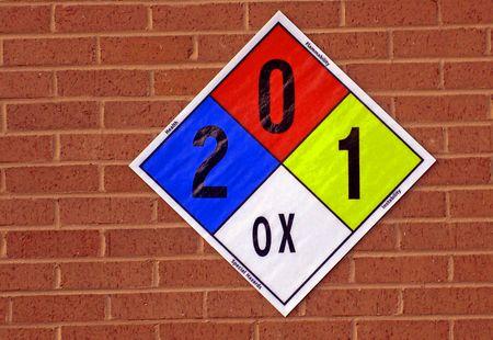 reactivity: Hazard Identification Sign Stock Photo