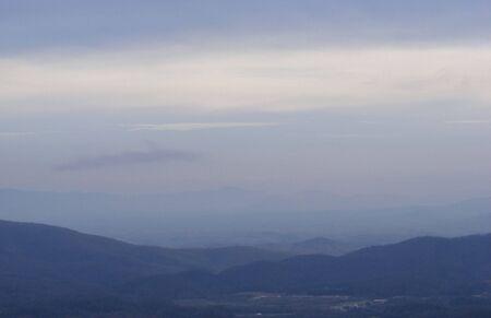 winter blues: Fog Over Mountain