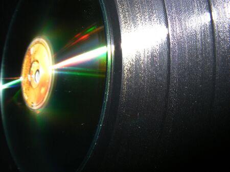 lp: Abstract LP  CD Stock Photo
