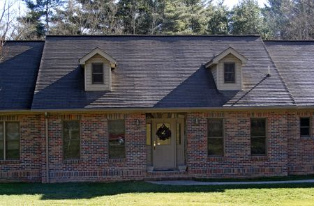 dormer: Home With Two Dormer Windows Stock Photo