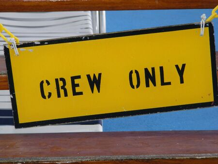 Crew only Sign Stock fotó