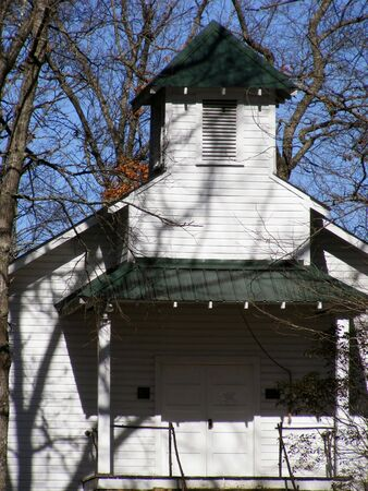 country church: Old Country Church In Woods