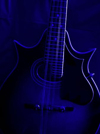 mandolin: Mandolin In Blue Stock Photo