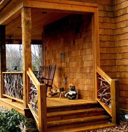 log cabin: Country Deck