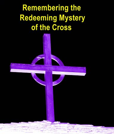 redeeming: Redeeming Mysery Of the Cross - Lent Stock Photo